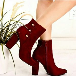 Shoes - Suede Ankle Booties